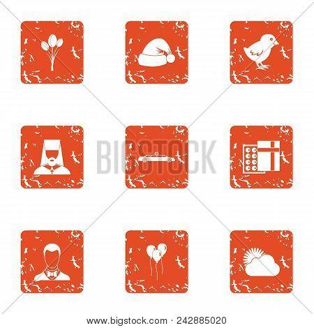 Sacrament Icons Set. Grunge Set Of 9 Sacrament Vector Icons For Web Isolated On White Background