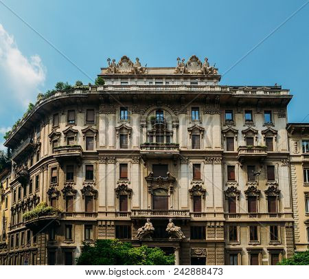 Traditional Architecture In Turn Of The 20Th Century Art Nouveau Style At Piazza Eleonora Duse In Mi