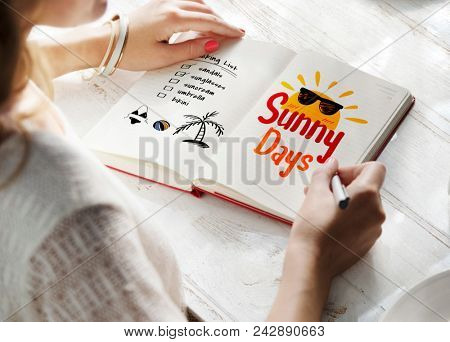 Woman reading a summer story
