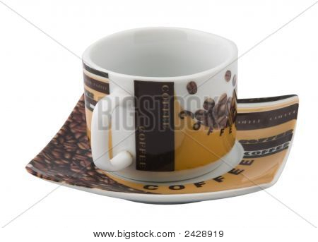 The Fine Coffee Cup With Saucer