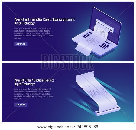 Payment And Money Transaction Report, Expense Statement, Pay Order, Electronic Receipt, Digital Tech
