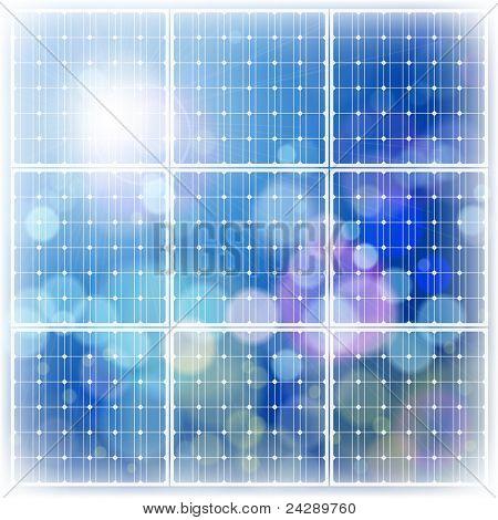 solar power panel & blue sky. Bitmap copy my vector ID 65081116