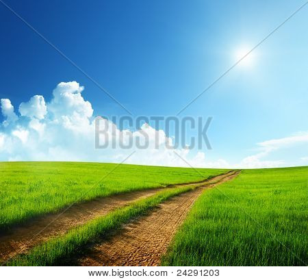 ground road and sunny day