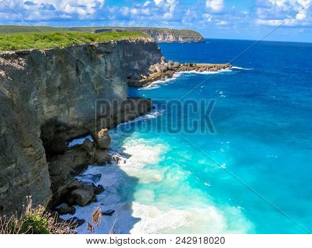 The Pointe De La Grande-vigie Is Located At The North Of Grande-terre In Guadeloupe, French Antilles