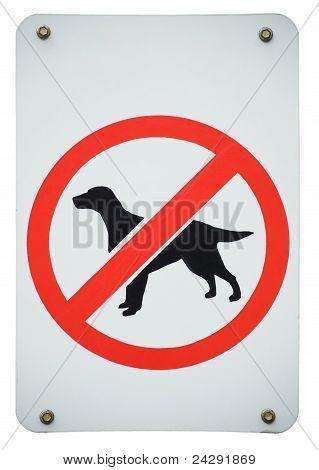 Forbidden Dogs Sign