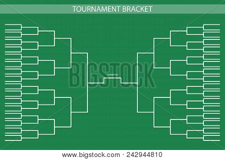 Soccer, Baseball Tournament Bracket For Your Design. Champion Ship Template, Trendy Style. Vector Il