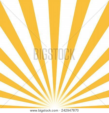 Ray Retro Background Yellow Colored Rays Stylish. Eps10. Vector Illustration