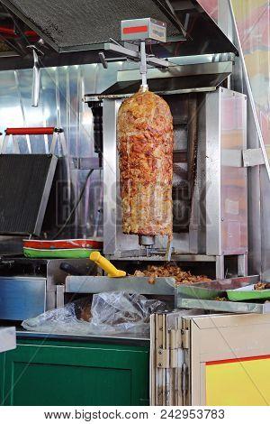 Donner Kebab Pork Rotisserie Fast Food Grill