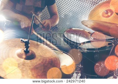 Live Music.concert And Band On Stage.festival And Show Background.music Background Vintage Style.dru