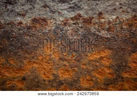 Texture of rusty metal. Corrosion of metal. Background poster