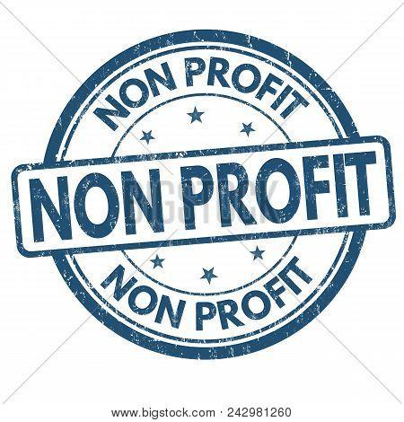 Non Profit Grunge Rubber Stamp
