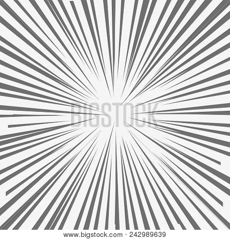 Abstract Comic Book Flash Explosion, Radial Lines Background. Vector Illustration For Superhero Desi