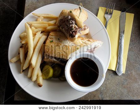 French Dip Sandwich.  In American Cuisine, The French Dip Sandwich, Also Known As A Beef Dip, Is A H