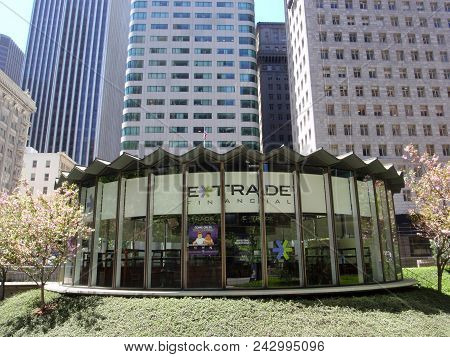 San Francisco - May 9, 2009: Glass E*trade Financial Building.  E-trade Financial Corporation Is A F