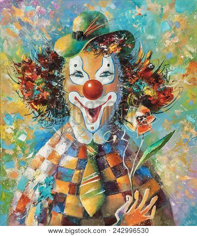 Artwork. Clown With A Flower. Author: Nikolay Sivenkov. My Positive Mood Allowed Me To Perform This