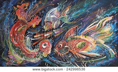 Artwork. The Sea Trio. Author: Nikolay Sivenkov. My Positive Mood Allowed Me To Perform This Artisti