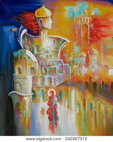 Artwork. Orthodox Russia. Author: Nikolay Sivenkov. I Took The Plot Of Creative Work From History. A