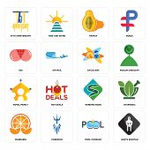 Set Of 16 simple editable icons such as white spartan, pool company, poseidon, mandarin, ayurvedic, 75th anniversary, ass, royal family, childcare can be used for mobile, web UI poster