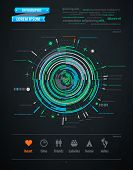 abstract infographics element on transportation topics poster