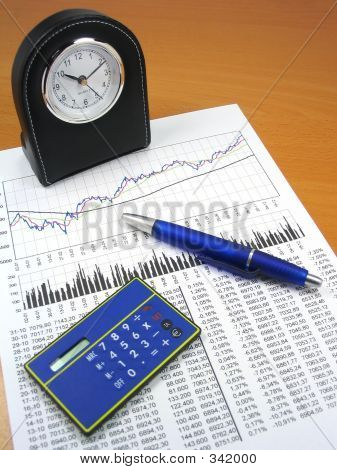 Business Charts And Office Objects