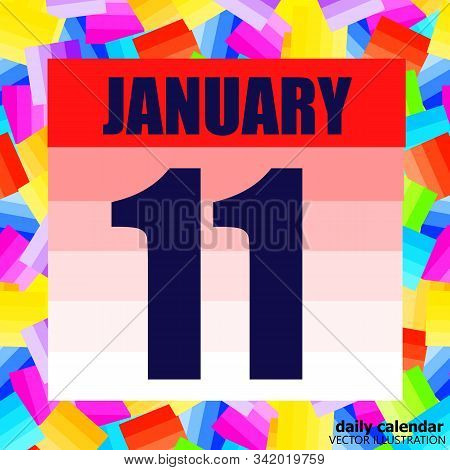 January 11 Icon. For Planning Important Day. Banner For Holidays And Special Days. January 11. Vecto