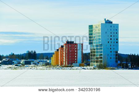 Complex Of Apartment Residential Buildings Winter Helsinki Reflex