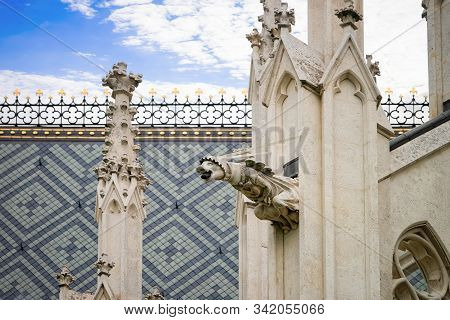 Sculpture Of Stephansdom Church In Old City Center In Vienna