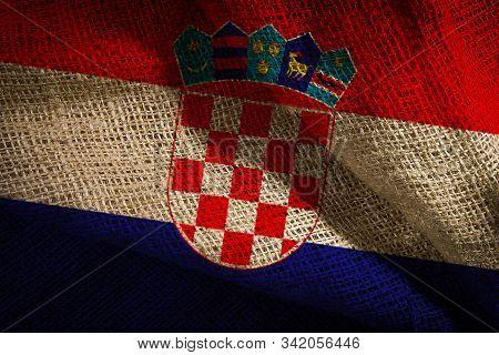 The State Flag Of Croatia Coarse Fabric