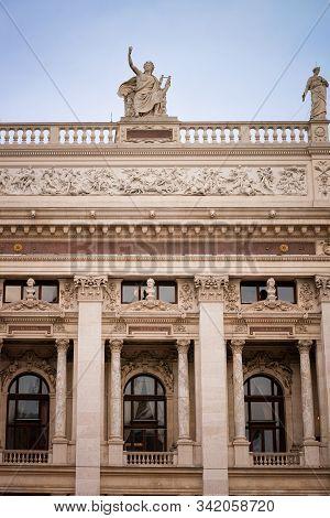 Austrian Parliament Building Archtecture In Vienna In Austria