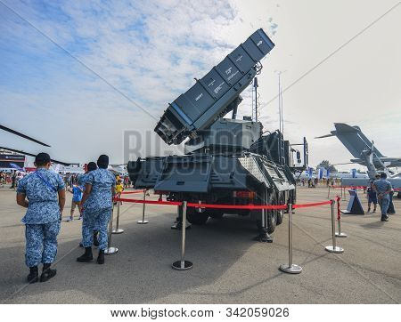 Singapore - Feb 10, 2018. A Spyder Surface-to-air Missile System Belong To The Singapore Air Force S