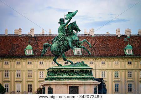 Equestrian Statue Of Archduke Charles On Heldenplatz Hofburg Vienna