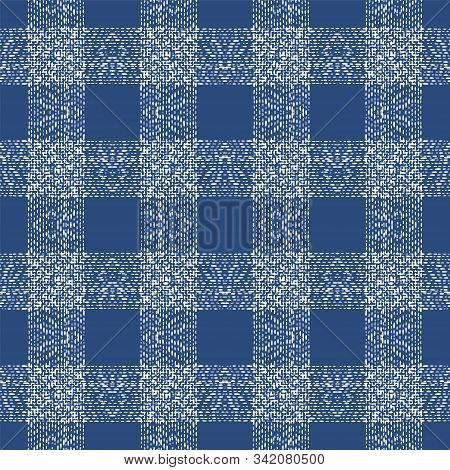 Maroon Tribal Elegant Vector Seamless Pattern. Cobalt Arabic Shibori Indian Wallpaper. Cornflower Ru