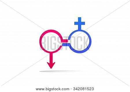 Male And Female Equality Concept. The Equality Of Men And Women. Equal Rights Concept. Gender Equali