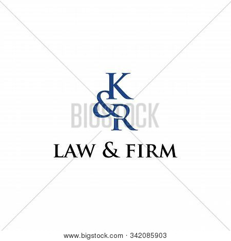 K & R Logo Design Template For Law & Firm