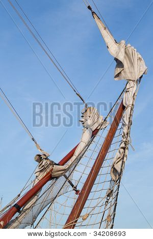 Rigging Bowsprit Of Big Sailing Ship