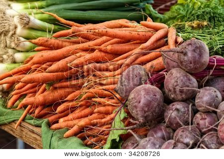 Veggies at the farmer's market