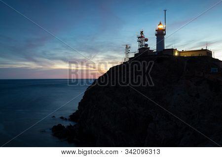 Cabo De Gata Lighthouse. Natural Park Of Cabo De Gata. Almeria Spain.