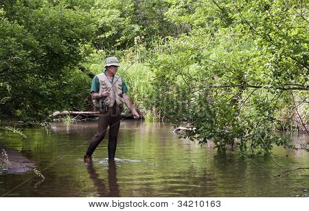 Snagged Fisherman