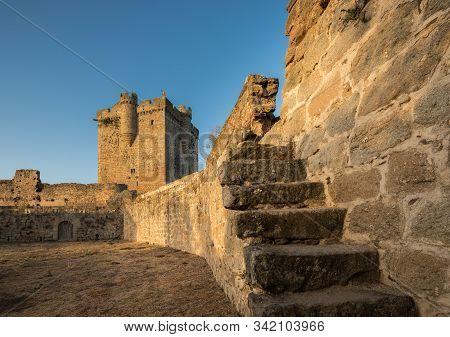 Ancient Medieval Castle In San Felices De Los Gallegos. Spain.