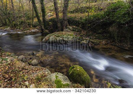Garganta San Gregorio. Landscape Near Aldeanueva De La Vera, Caceres. Extremadura. Spain.