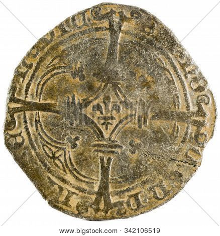 Ancient Coin Of The King Felipe I. Patard. Coined In Namur. Spanish Low Countries. Reverse.