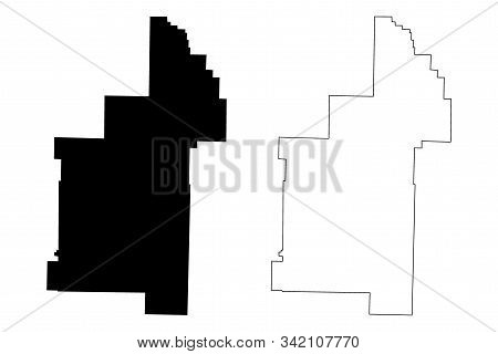 Sharp County, Arkansas (u.s. County, United States Of America,usa, U.s., Us) Map Vector Illustration