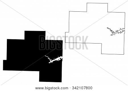 Van Buren County, Arkansas (u.s. County, United States Of America,usa, U.s., Us) Map Vector Illustra