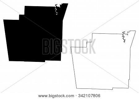 Washington County, Arkansas (u.s. County, United States Of America,usa, U.s., Us) Map Vector Illustr