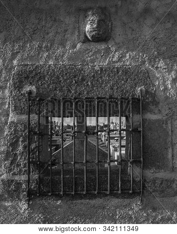 Window On The Wall Of Graveyard. San Felices.