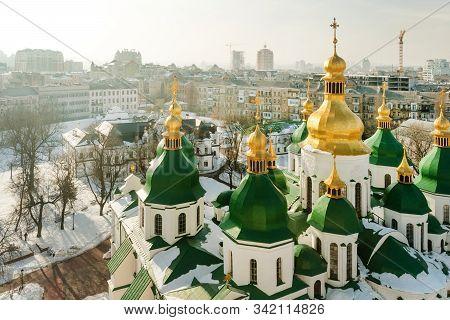 Medievalholy Sophia Cathedral (sophia Of Kiev) Built In Xi Century During Kievan Rus, Kiev, Ukraine