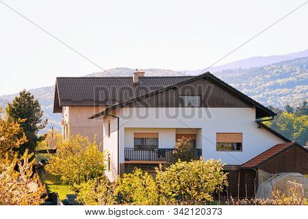 Townhouse Building Architecture Of Apartment Residential House In Slovenska Bistrica