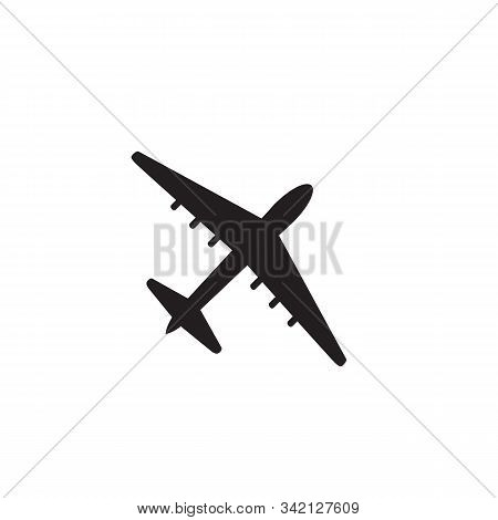 Airplane Icon Vector Isolated On White Background, Airplane Icon Simple Sign. Airplane Icon Flat Vec