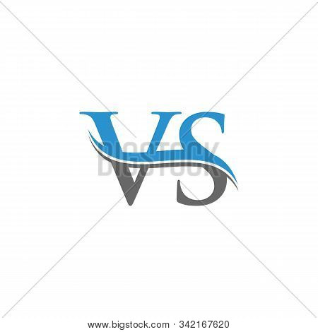 Initial Vs Letter Linked Logo. Creative Letter Vs Modern Business Logo Vector Template. Vs Logo Temp