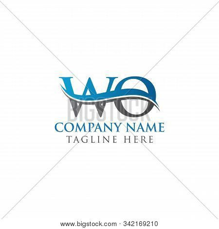 Initial Wo Letter Linked Logo. Creative Letter Wo Modern Business Logo Vector Template. Wo Logo Temp
